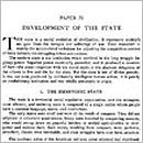 71. Development of the State