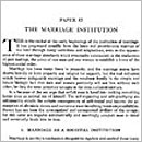 83. The Marriage Institution