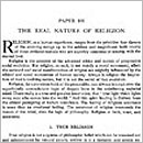 101. The Real Nature of Religion