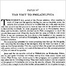 167. The Visit to Philadelphia